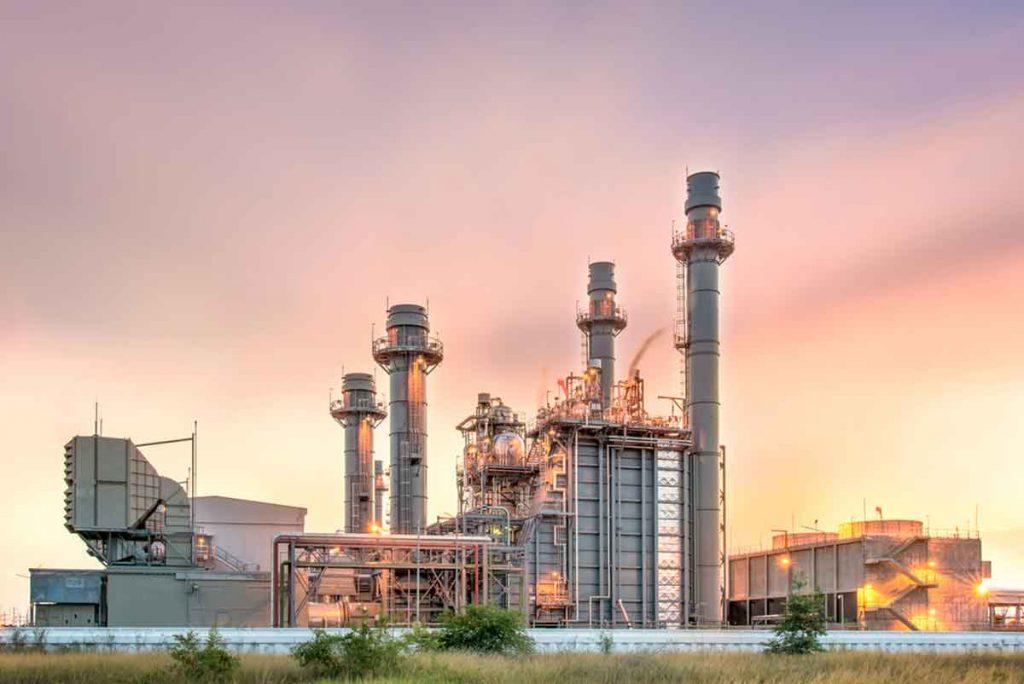Atardecer con cogeneración de energía de gran capacidad